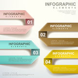 Vector abstract label folding infographic elements Stock Photo