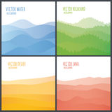 Vector abstract landscape. Royalty Free Stock Photography