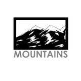 Vector abstract landscape with mountain range. Vector abstract simple landscape with mountain range Royalty Free Stock Photos