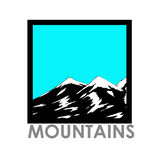 Vector abstract landscape with mountain range. Vector abstract simple landcscape with mountain range Royalty Free Stock Photos
