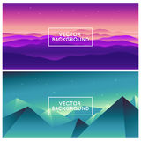 Vector abstract landscapes Royalty Free Stock Photos