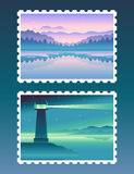 Vector abstract landscapes Stock Photo