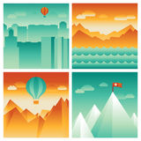 Vector abstract landscapes Royalty Free Stock Images