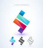 Vector abstract letter Z logo. Template Royalty Free Stock Photography