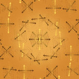 Vector abstract light beige background with gold fractal patterns and elements of hearts Royalty Free Stock Images
