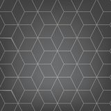 Vector abstract light grey background. Necker Cube seamless pattern. Geometric texture. Modern soft colored fond. Illustration Stock Photo