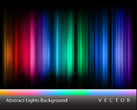 Vector abstract lights. Beautiful abstract northern lights background royalty free illustration