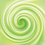 Vector abstract lime spiral background Stock Images