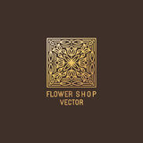Vector abstract logo design template Stock Image