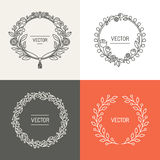Vector abstract logo design templates with copy space Royalty Free Stock Photo