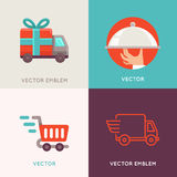 Vector abstract logo design templates in flat style Royalty Free Stock Image