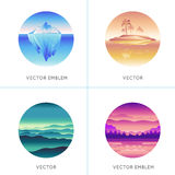 Vector abstract logo design templates Royalty Free Stock Photography