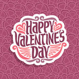 Vector abstract logo for Happy Valentine`s Day Royalty Free Stock Images