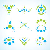 Vector Abstract Logo Set. EPS 10 file available stock illustration