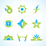 Vector Abstract Logo Set Stock Photo