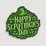 Vector abstract logo for St. Patrick`s Day Stock Photos