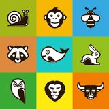 Vector abstract logo symbols Royalty Free Stock Photo