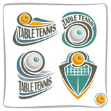 Vector abstract logo Table Tennis Ball Stock Images
