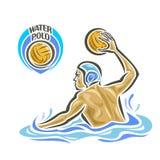 Vector abstract logo for Water Polo Stock Photos