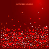 Vector abstract love background for your Valentines Day design Stock Photos