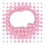 Vector abstract love heart Monochrome Pattern Royalty Free Stock Photography