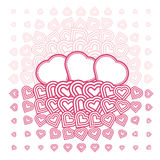 Vector abstract love heart Monochrome Pattern Stock Photos
