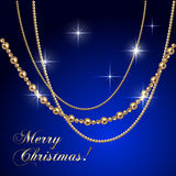Vector abstract luxury Christmas greeting card Royalty Free Stock Photos