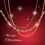 Vector abstract luxury Christmas greeting card Stock Image