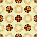 Vector abstract mandala in an African style. Seamless pattern. textile print Stock Photo