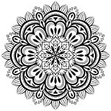 Vector, abstract mandala on a white background Royalty Free Stock Photography