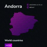Vector abstract map of Andorra stock illustration