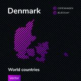 Vector abstract map of Denmark vector illustration