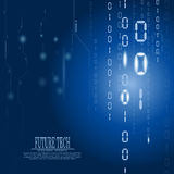 Vector abstract matrix circuit background Royalty Free Stock Photo