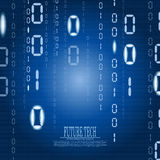 Vector abstract matrix cyberspace background Stock Images