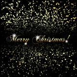 Vector abstract Merry Christmas or New Year golden Royalty Free Stock Images