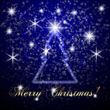 Vector Abstract Merry Christmas Or New Year Blue Royalty Free Stock Images