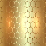 Vector abstract metal gold background with Stock Images