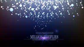 Vector abstract million fireflies background design III. Illuminated light effect Royalty Free Stock Photos