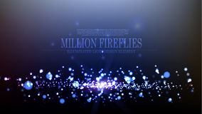 Vector abstract million fireflies background design. Template Royalty Free Stock Images