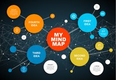 Vector abstract mind map infographic template Stock Photos