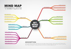 Vector abstract mind map infographic template Stock Photo
