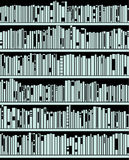 Vector abstract modern bookshelf Royalty Free Stock Photo