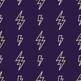 Vector abstract modern grappig patroon met bliksembouten Stock Afbeeldingen