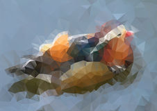 Vector abstract modern polygonal background Royalty Free Stock Photography