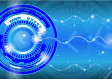 Vector - Abstract Modern technology circles  background. Royalty Free Stock Images