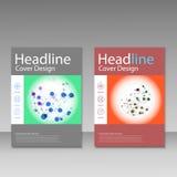 Vector abstract molecular structure. Brochure template design Stock Photography