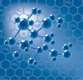 vector abstract molecule Royalty Free Stock Photography