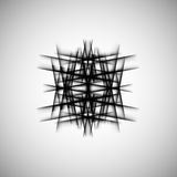 Vector abstract monochrome pattern line techno eps Royalty Free Stock Photography