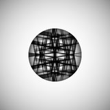 Vector abstract monochrome pattern line techno eps Royalty Free Stock Photo