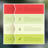 Vector abstract mosaic background. Infographic template with pla Stock Images